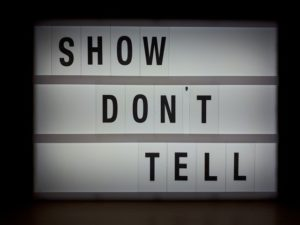 Show don't tell
