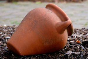 Voorbeeld van een voorwerp als vertelperspectief; een vaas.