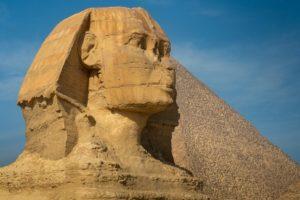 Sfinx uit het Oude Egypte