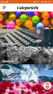 Kies een genre via Storytel